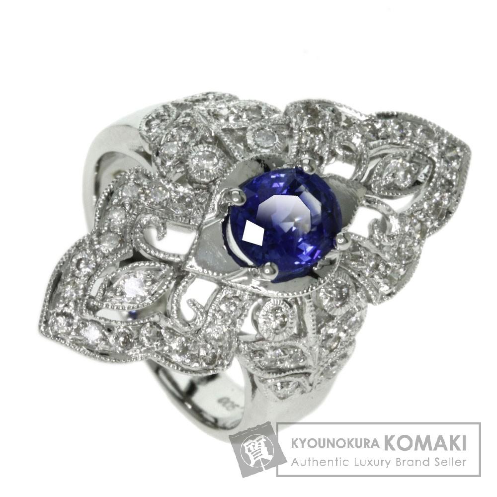 1.39ct サファイア/ダイヤモンド リング・指輪 プラチナPT900 11.3g レディース 【中古】