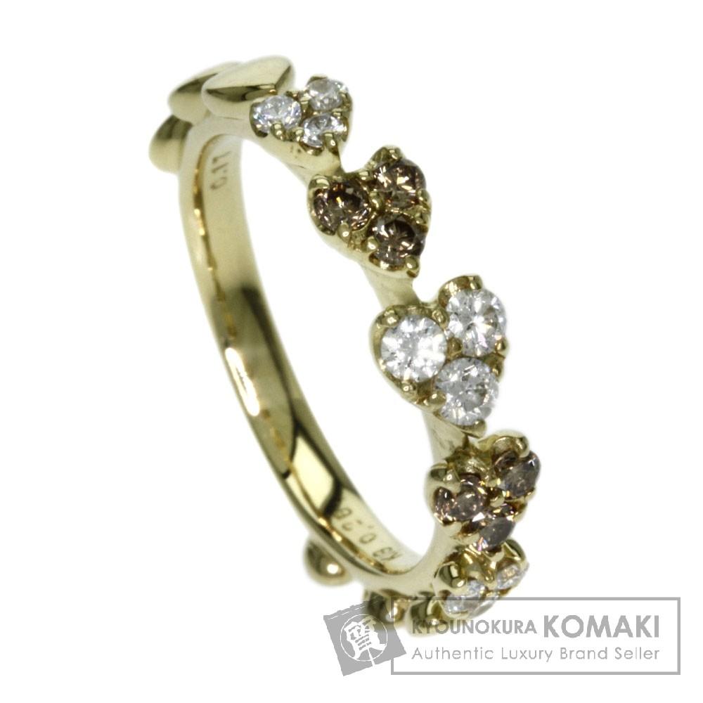 0.26ct ダイヤモンド リング・指輪 K18イエローゴールド 4g レディース 【中古】