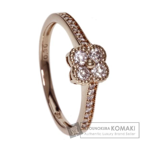 0.3ct ダイヤモンド リング・指輪 K18ピンクゴールド 2.5g レディース 【中古】
