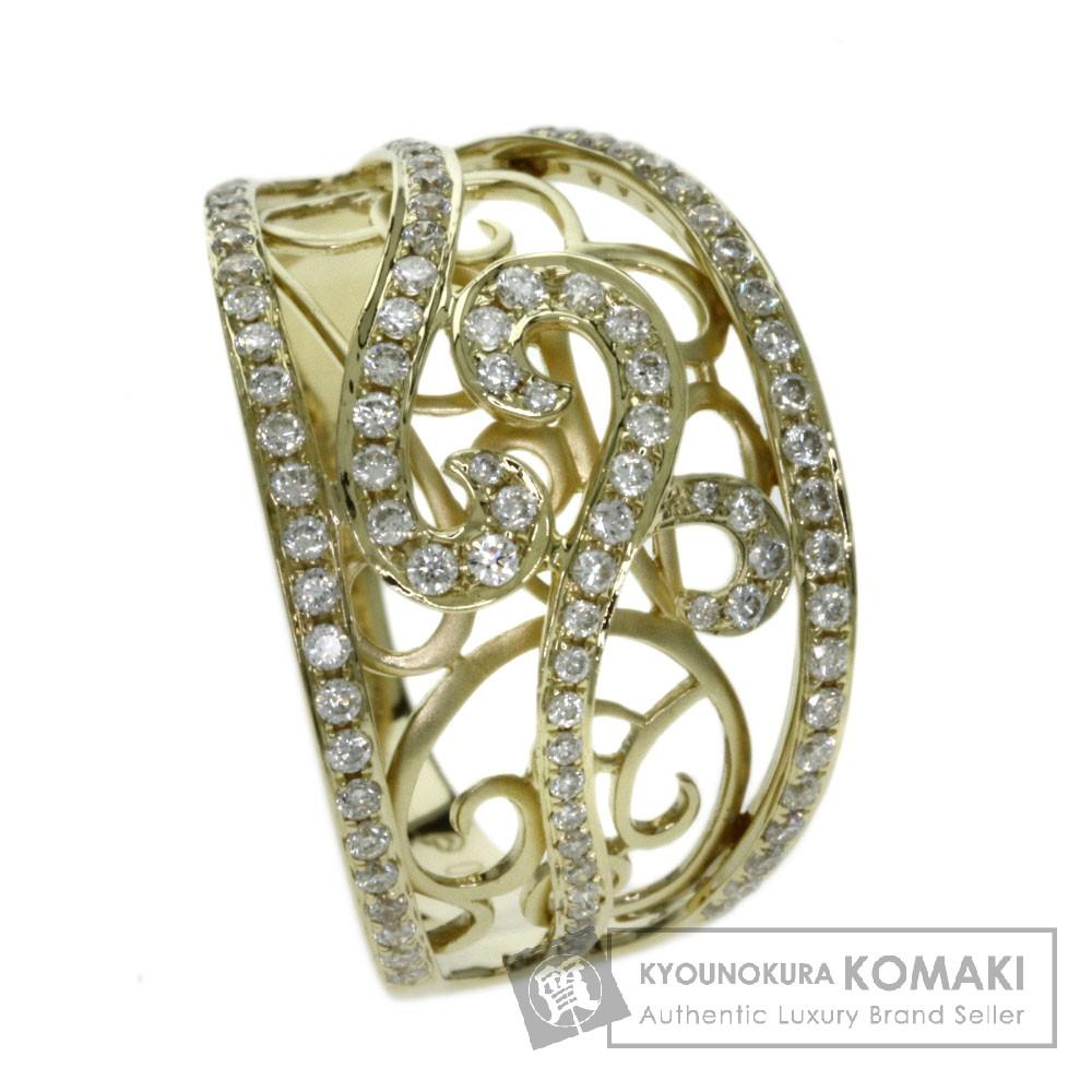 0.58ct ダイヤモンド リング・指輪 K18イエローゴールド 5.4g レディース 【中古】