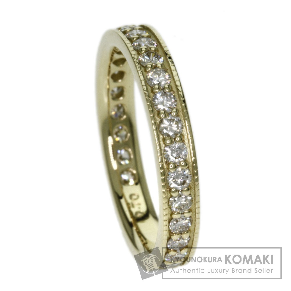0.7ct ダイヤモンド リング・指輪 K18イエローゴールド 2.8g レディース 【中古】