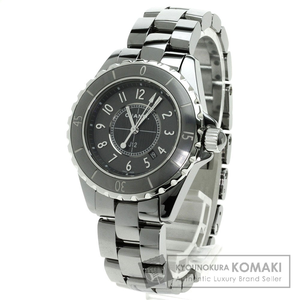 CHANEL H2978 J12 クロノマティック 腕時計 チタンセラミック レディース 【中古】【シャネル】