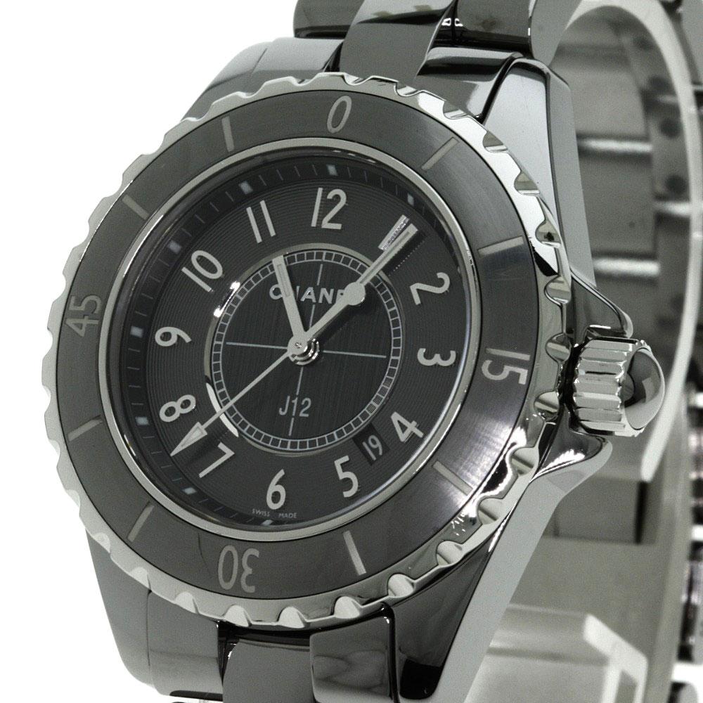 93a741059cce ... CHANEL H2978 J12 クロノマティック 腕時計 チタンセラミック レディース 【】【シャネル】 ...