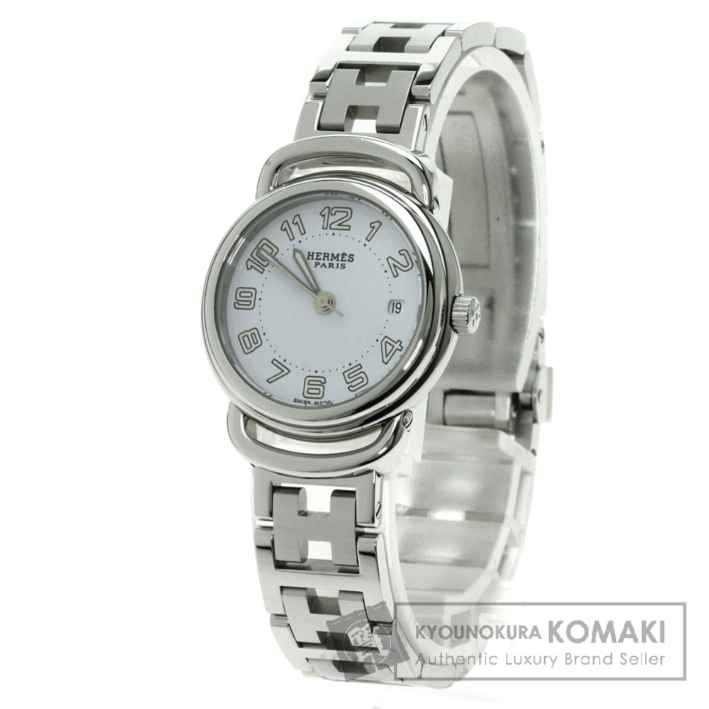 HERMES PU2.210 プルマン 腕時計 ステンレス/SS レディース 【中古】【エルメス】
