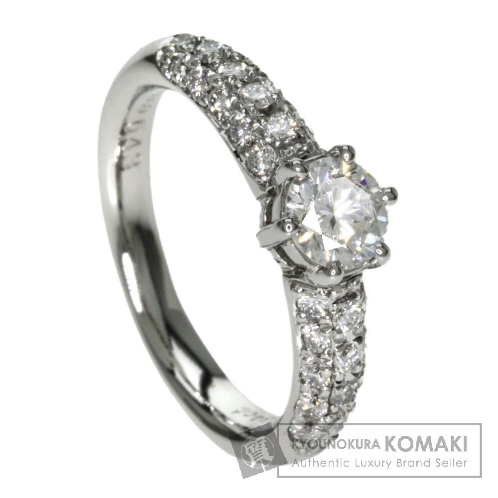 0.43ct ダイヤモンド リング・指輪 プラチナPT900 5.4g レディース 【中古】