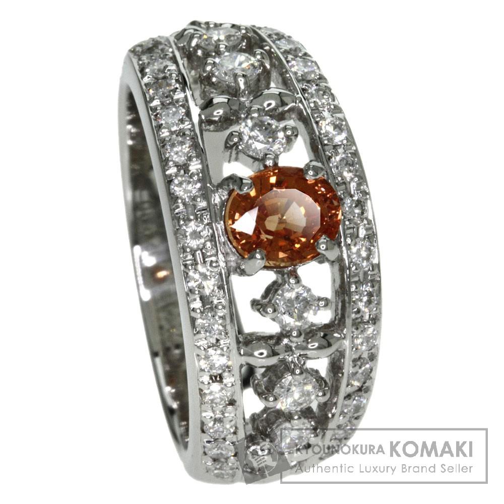 0.77ct オレンジサファイア/ダイヤモンド リング・指輪 プラチナPT900 10.7g レディース 【中古】