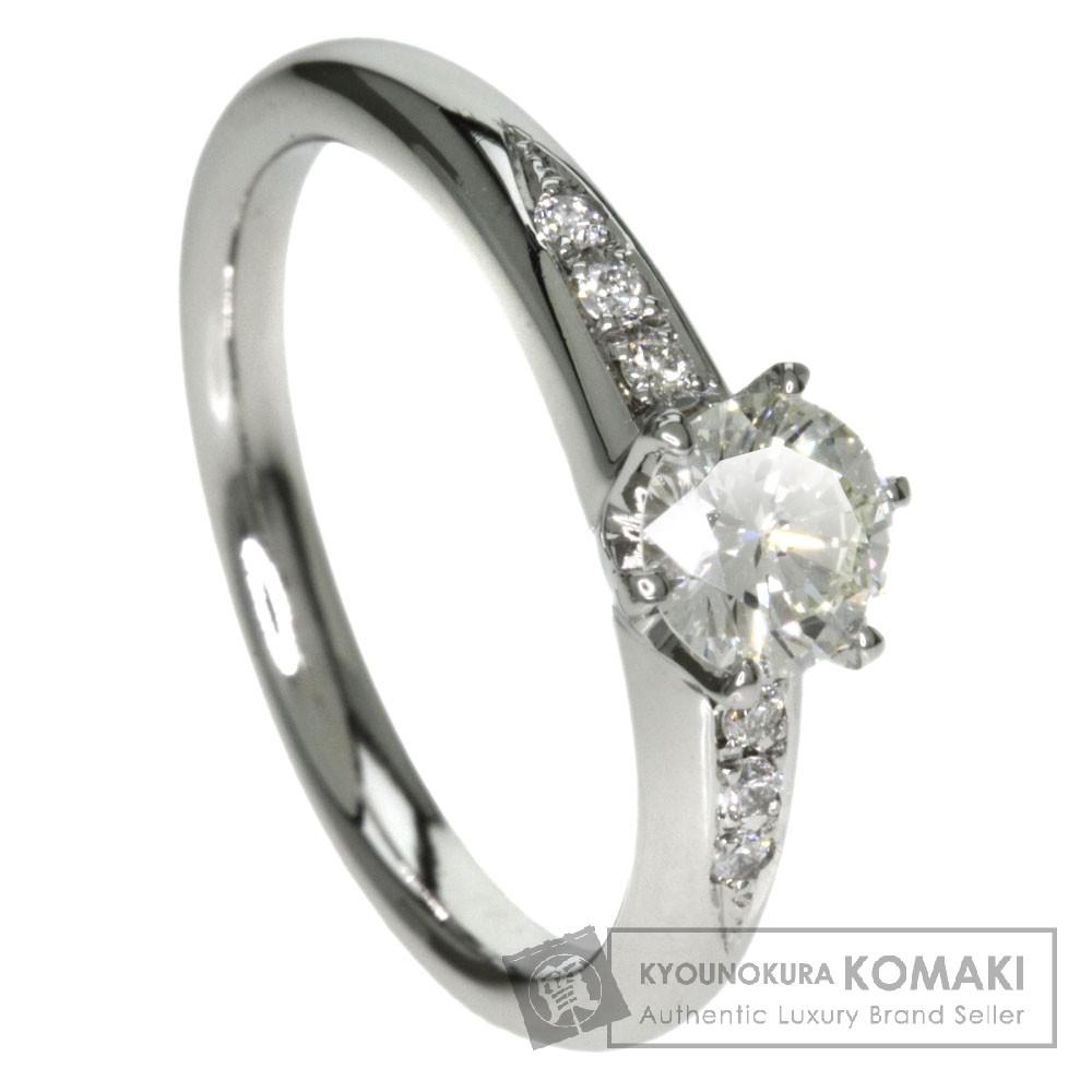 0.566ct ダイヤモンド リング・指輪 プラチナPT900 5.6g レディース 【中古】