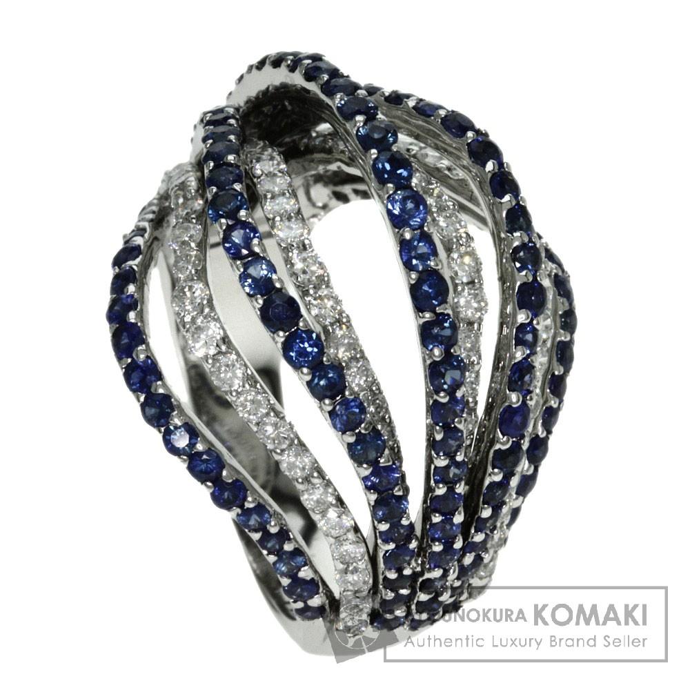 2.37ct サファイア/ダイヤモンド リング・指輪 K18ホワイトゴールド 12.3g レディース 【中古】
