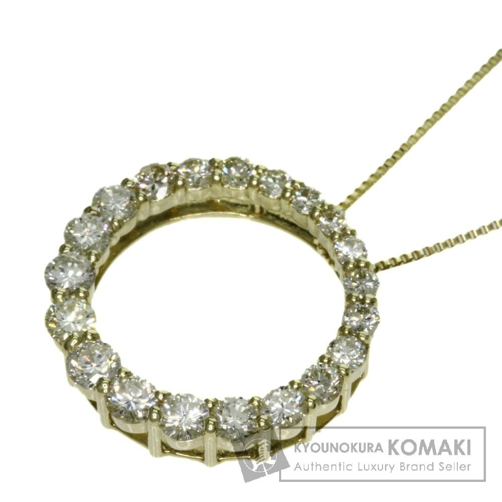 0.8ct ダイヤモンド ネックレス K18イエローゴールド 3.1g レディース 【中古】
