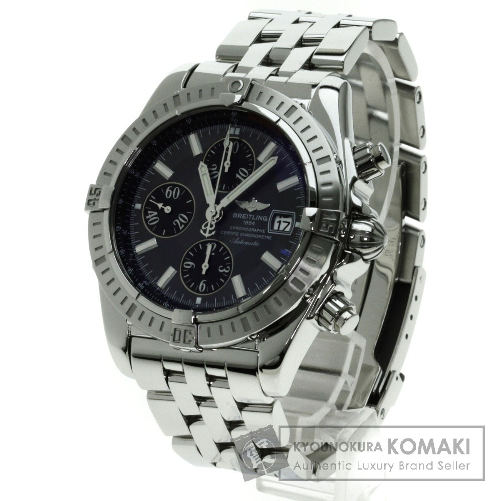 BREITLING A13356 クロノマット 腕時計 OH済 ステンレス メンズ 【中古】【ブライトリング】
