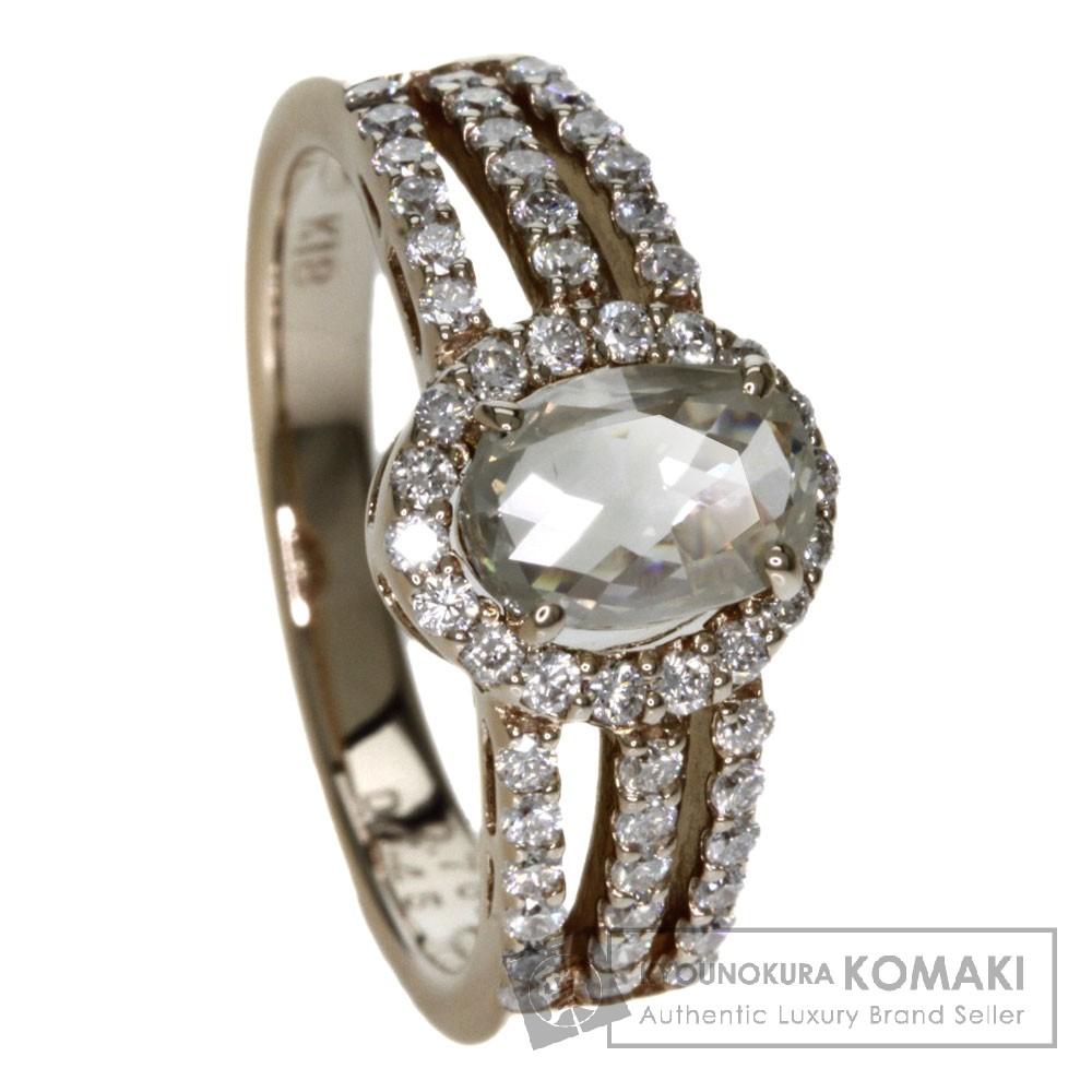 0.762ct ダイヤモンド リング・指輪 K18ピンクゴールド 4.9g レディース 【中古】