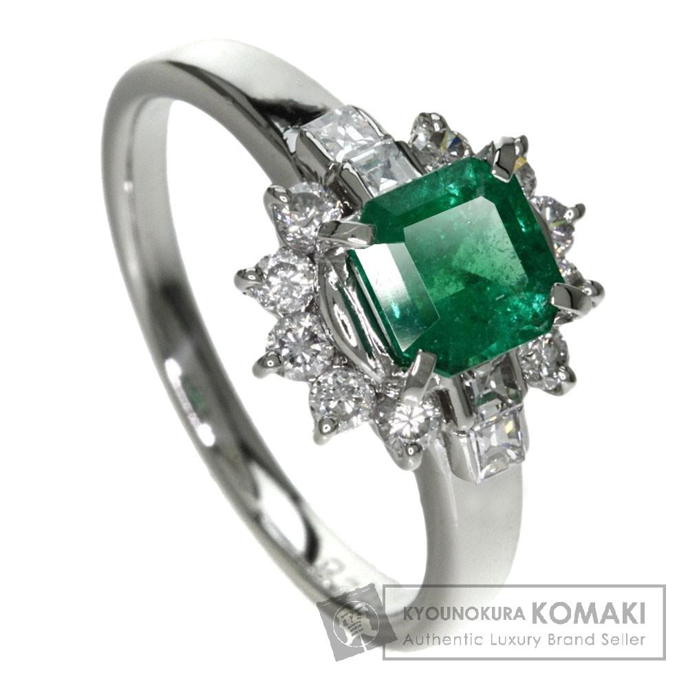 0.81ct エメラルド/ダイヤモンド リング・指輪 プラチナPT900 5.4g レディース 【中古】