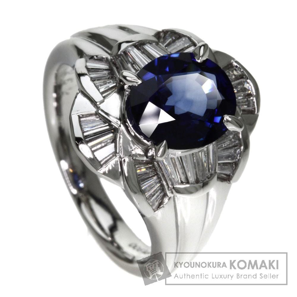 2.18ct サファイア/ダイヤモンド リング・指輪 プラチナPT900 11.37g レディース 【中古】