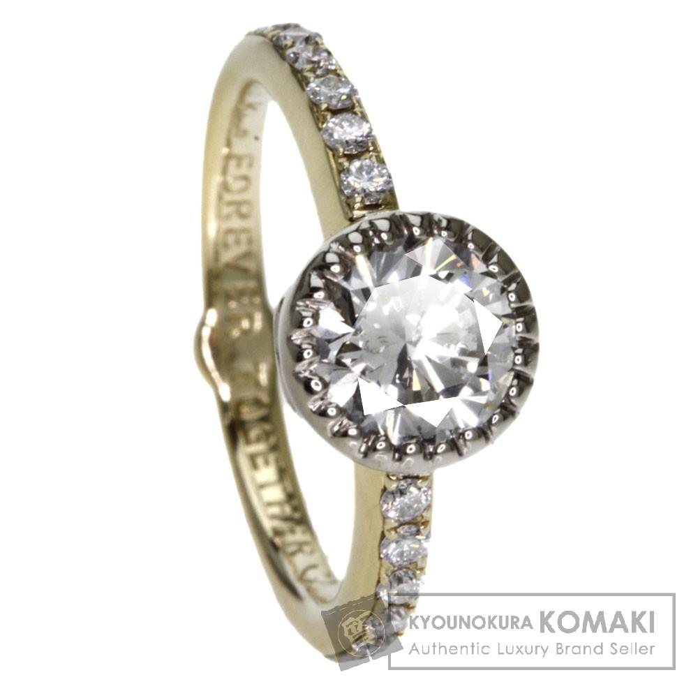 1.014ct ダイヤモンド リング・指輪 K18イエローゴールド 3.7g レディース 【中古】