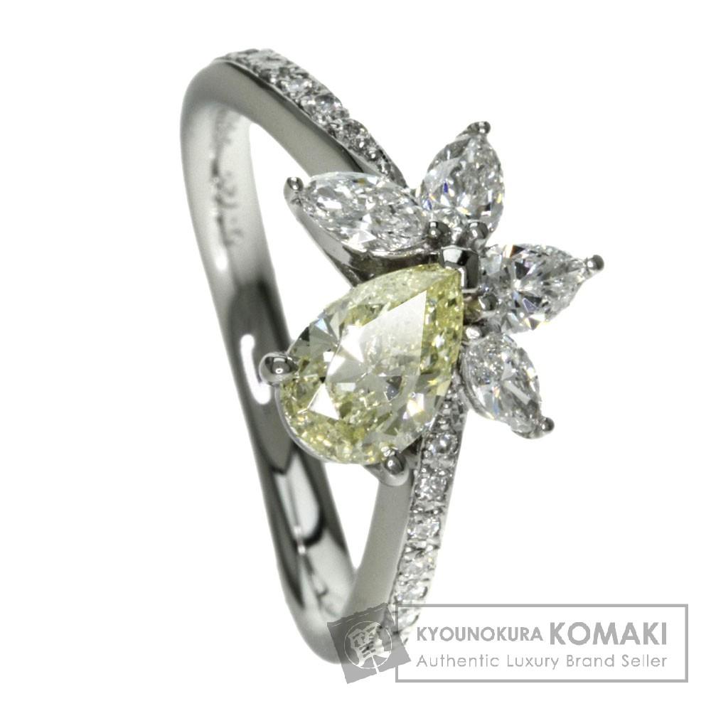 0.728ct ダイヤモンド リング・指輪 プラチナPT900 5.4g レディース 【中古】