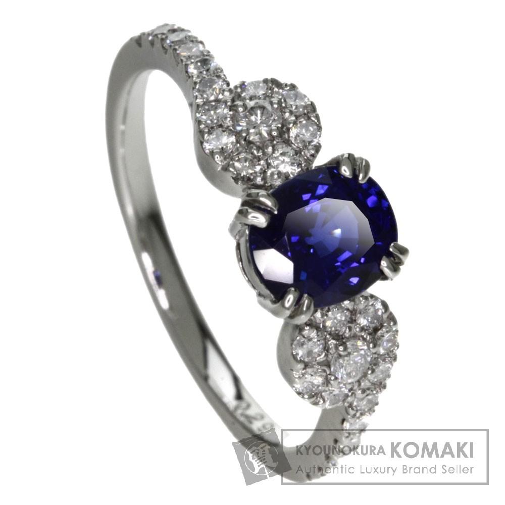 1.09ct サファイア/ダイヤモンド リング・指輪 プラチナPT900 3.5g レディース 【中古】