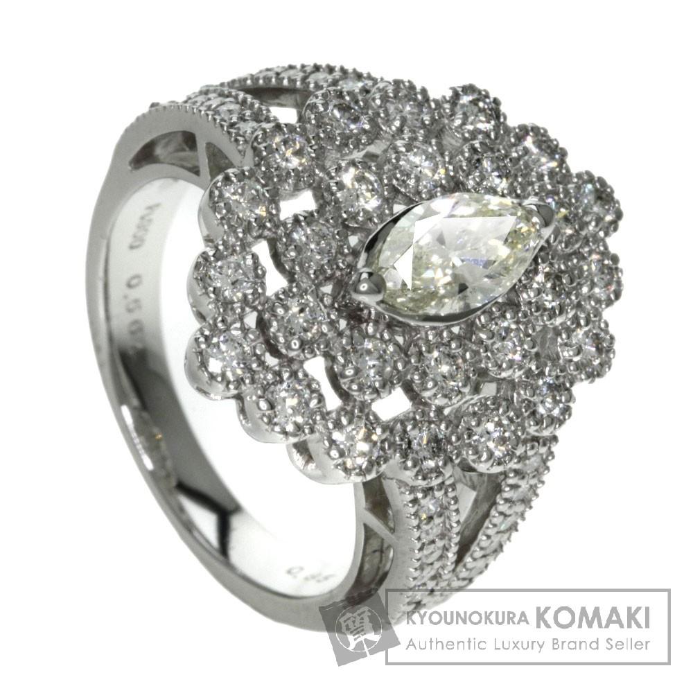 0.564ct ダイヤモンド リング・指輪 プラチナPT900 10.9g レディース 【中古】