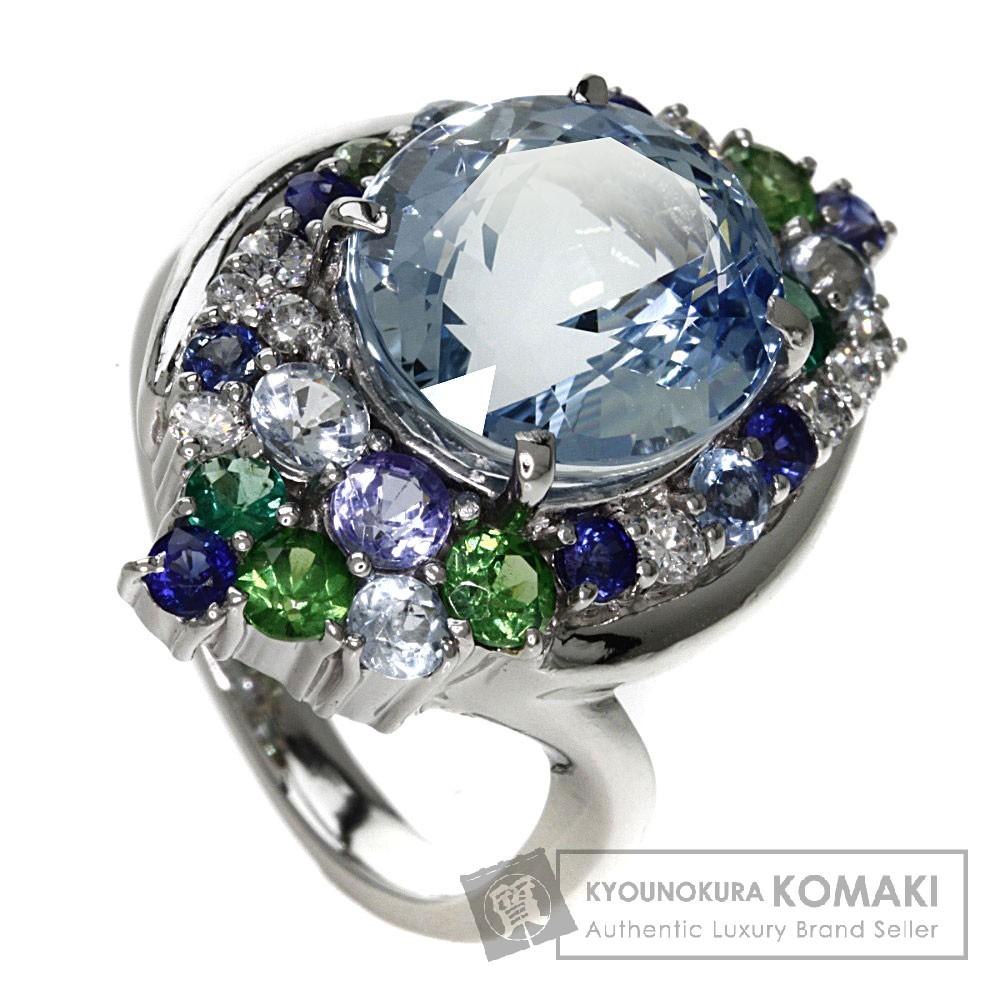 6.299ct アクアマリン/ダイヤモンド リング・指輪 Pt900 17.5g レディース 【中古】