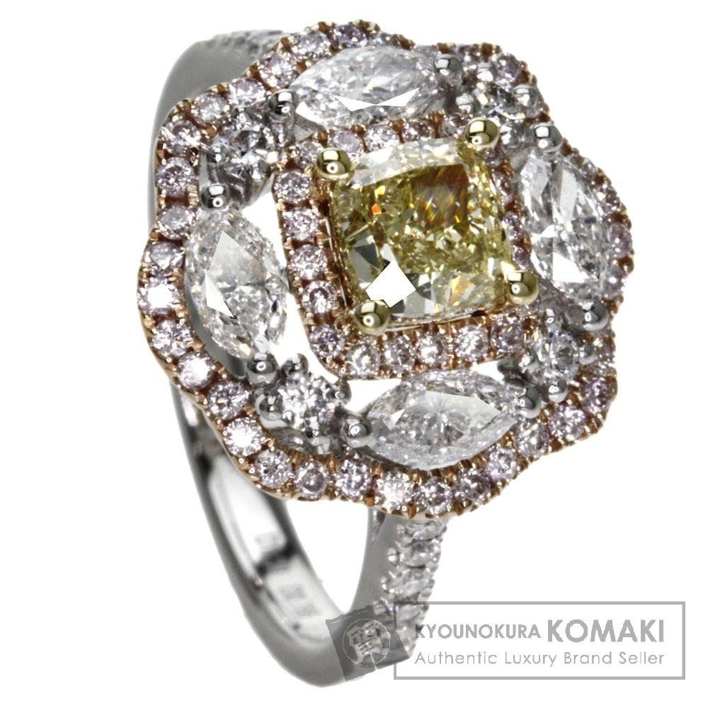 0.766ct ダイヤモンド リング・指輪 K18ゴールド/Pt900 6.4g レディース 【中古】