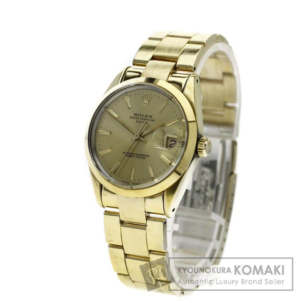 ROLEX 15505  デイト 腕時計 OH済 GP メンズ 【中古】【ロレックス】