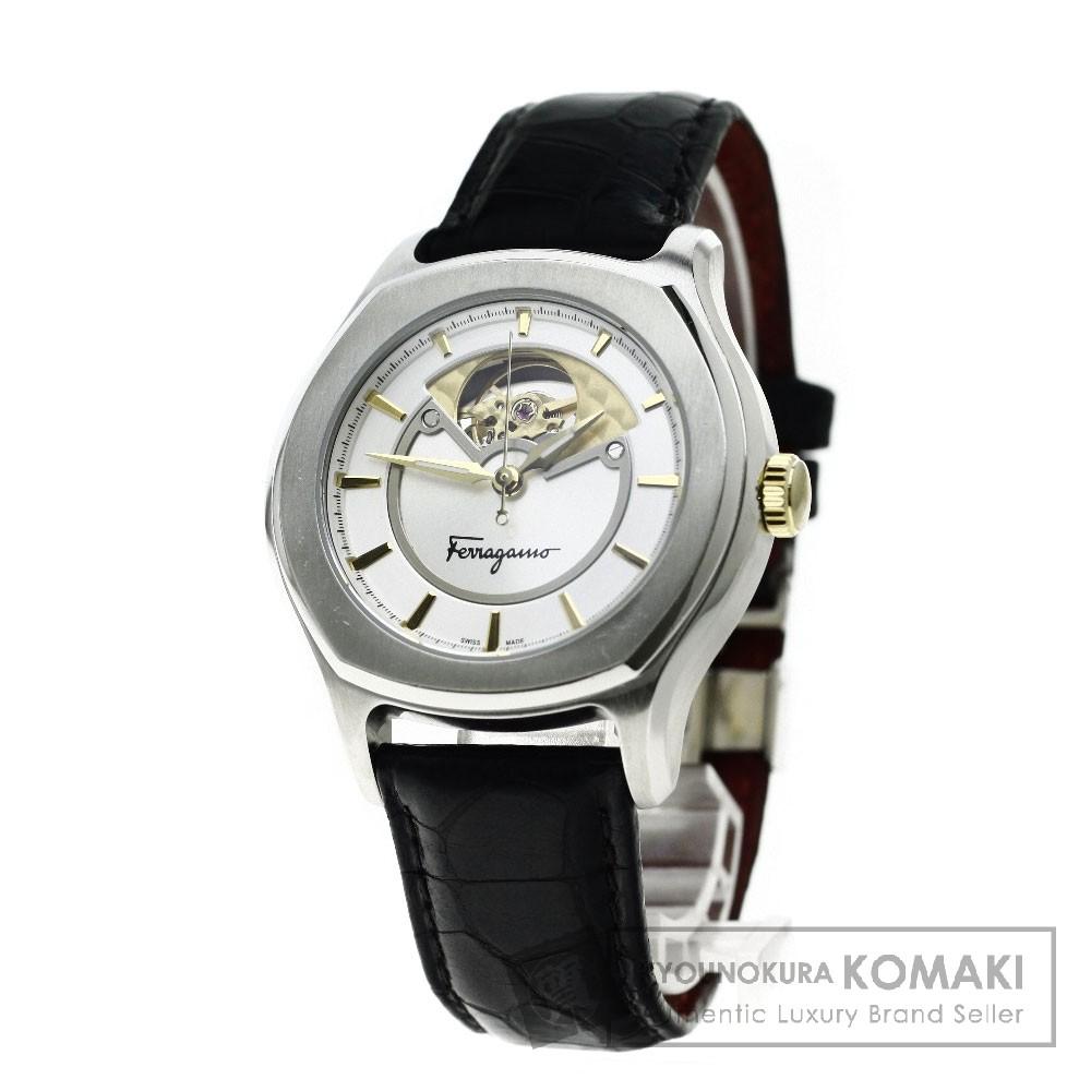 Salvatore Ferragamo FQ1 09137944036 ルンガルノ 腕時計 ステンレス/革 メンズ 【中古】【サルヴァトーレフェラガモ】