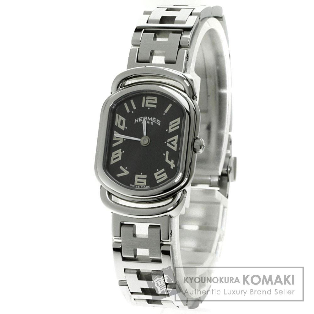 HERMES RA1.210 ラリー 腕時計 ステンレス/SS レディース 【中古】【エルメス】