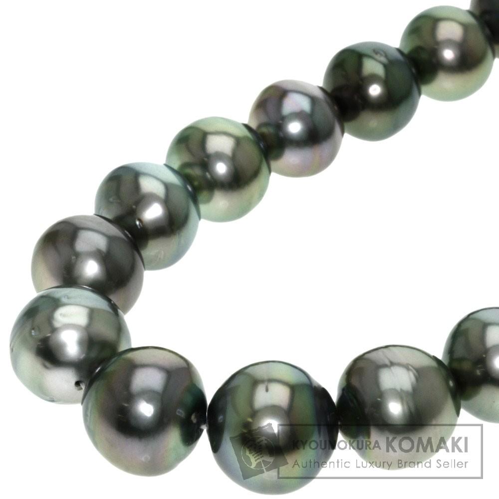 ブラックパール/真珠 ネックレス シルバー 86.8g レディース 【中古】