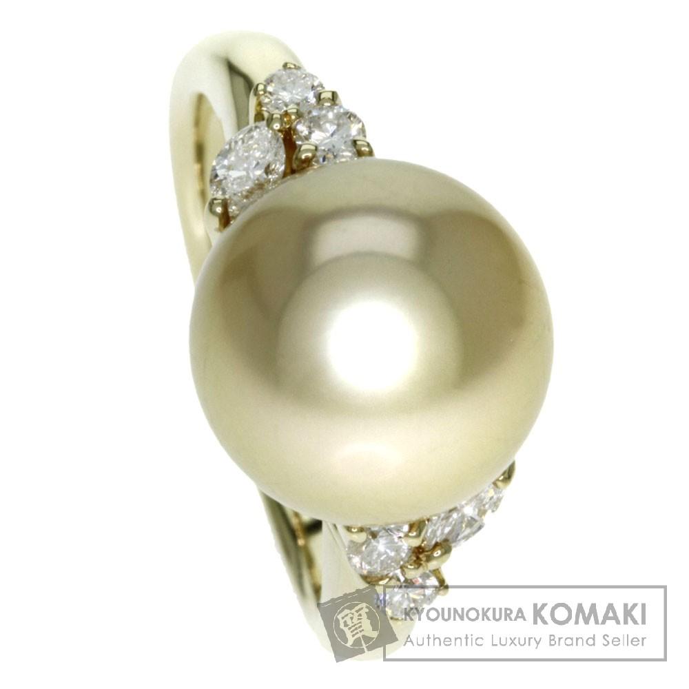 ゴールデンパール/真珠 ダイヤモンド リング・指輪 K18ゴールド 6.8g レディース 【中古】