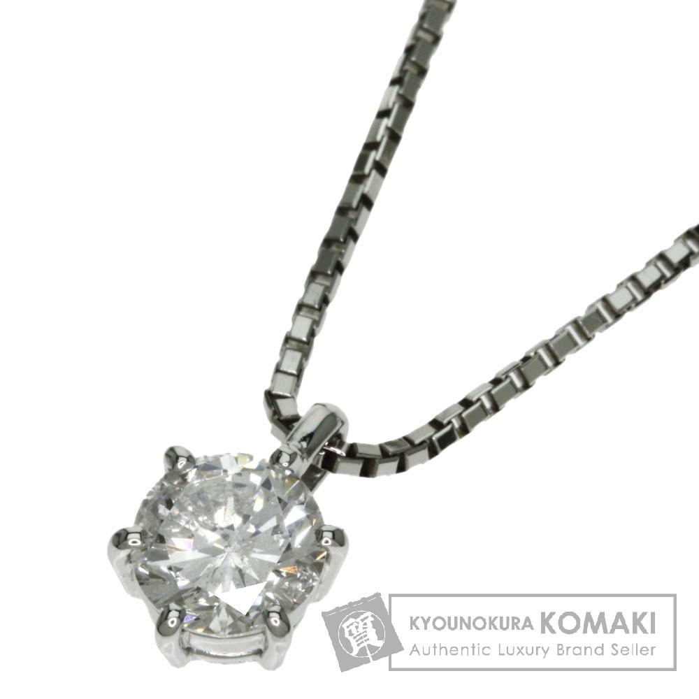 0.77ct ダイヤモンド ネックレス プラチナPT850 5.2g レディース 【中古】