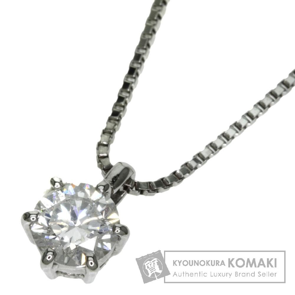 0.58ct ダイアモンド ネックレス プラチナPT850 4.2g レディース 【中古】