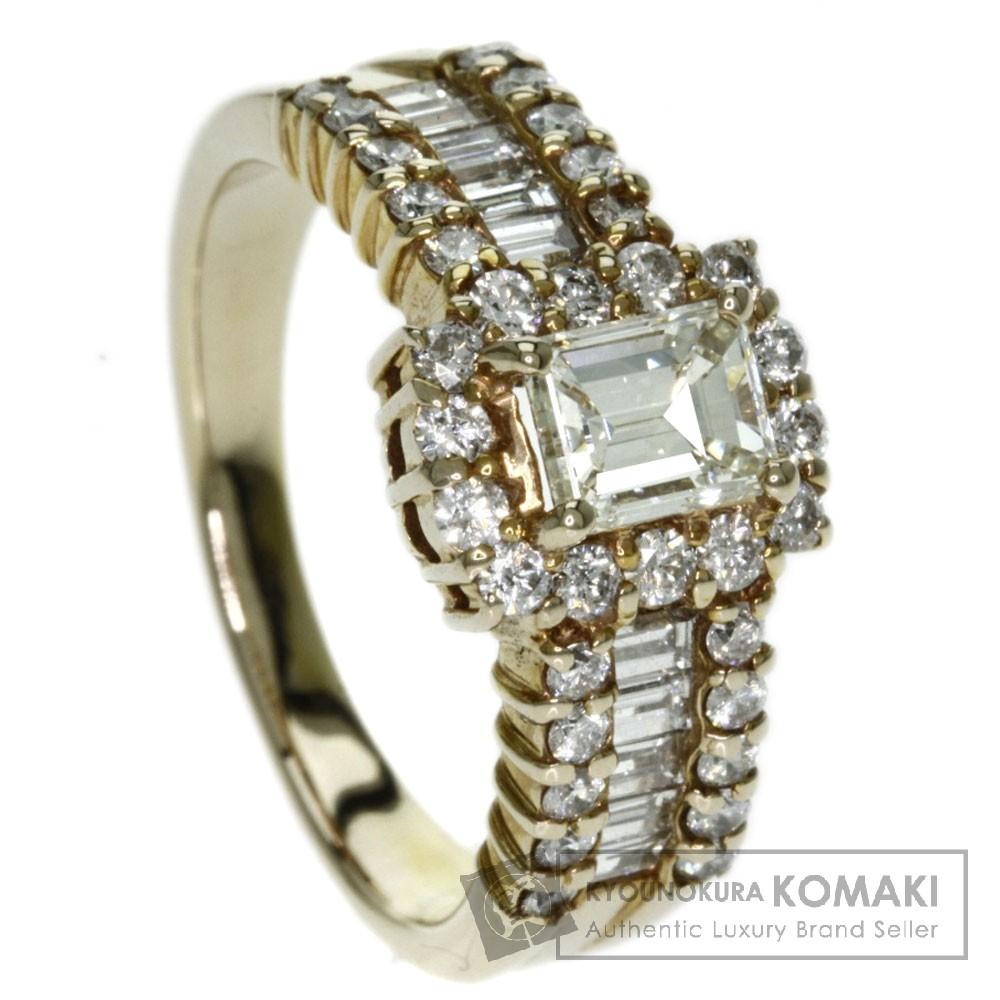 0.643ct ダイヤモンド リング・指輪 K18ピンクゴールド 6.2g レディース 【中古】