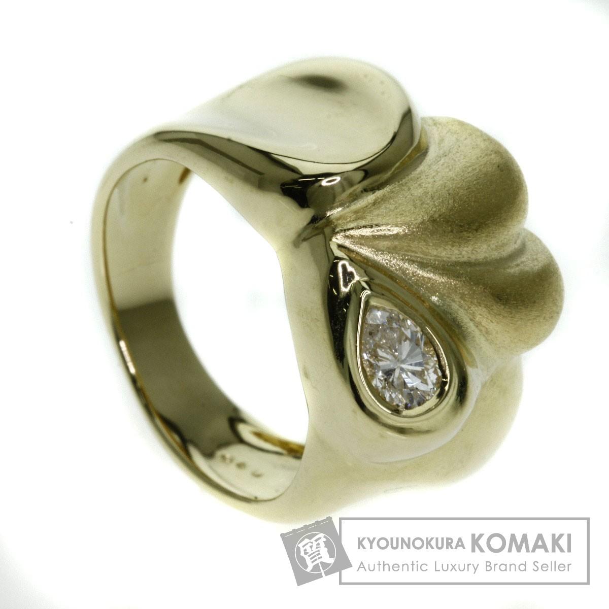 0.32ct ダイヤモンド リング・指輪 K18イエローゴールド 11.1g レディース 【中古】