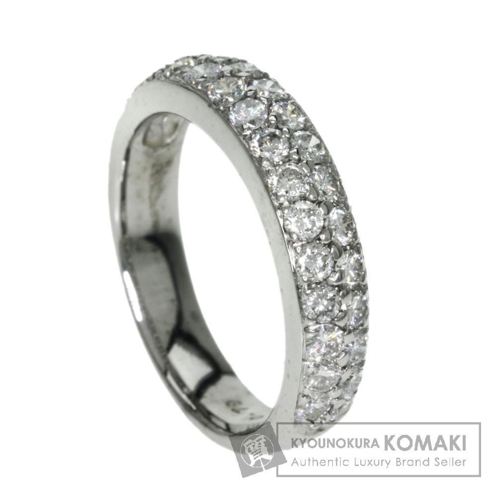 0.79ct ダイアモンド リング・指輪 K18ホワイトゴールド 4.7g レディース 【中古】