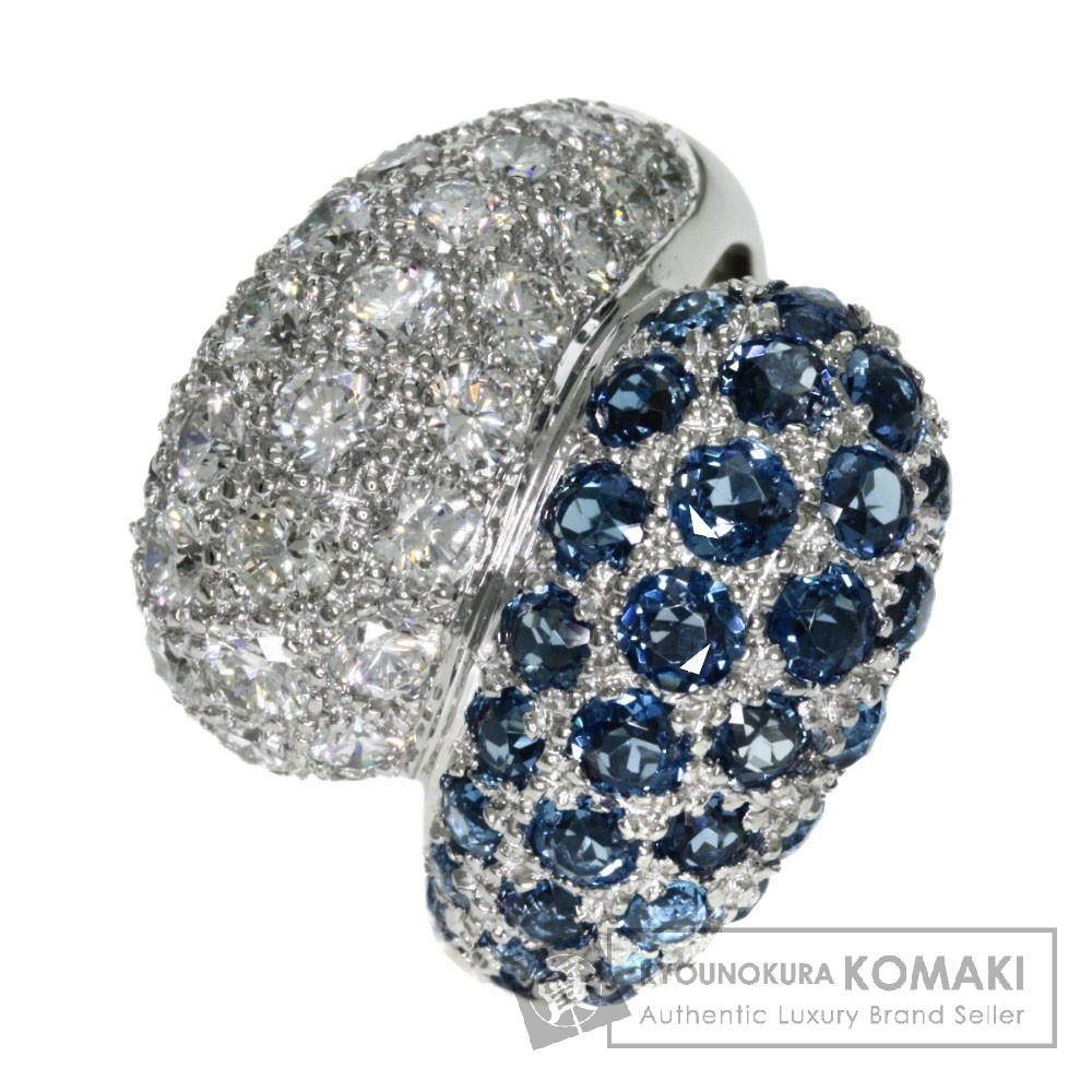 2.95ct ブルートパーズ/ダイヤモンド リング・指輪 プラチナPT900 17.4g レディース 【中古】