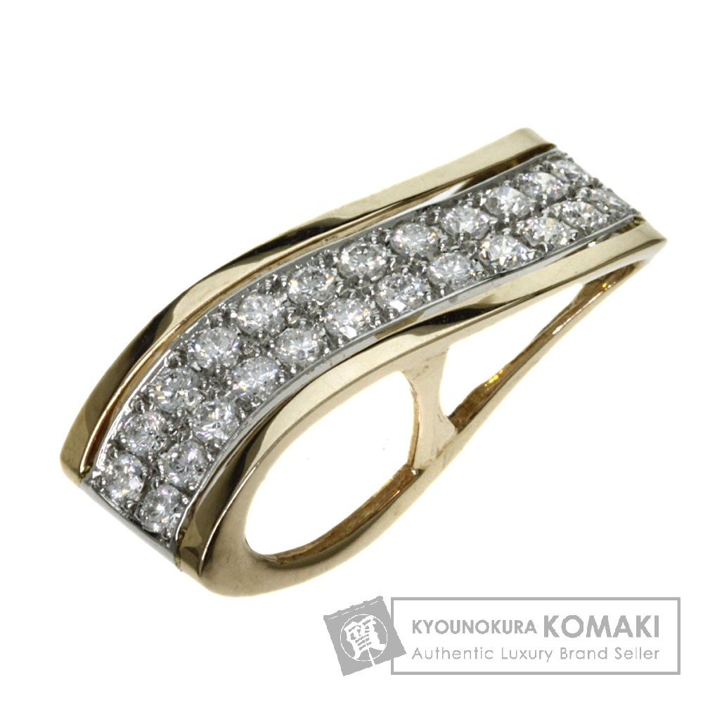 0.45ct ダイヤモンド ペンダント K18ゴールド/Pt900 2.5g レディース 【中古】