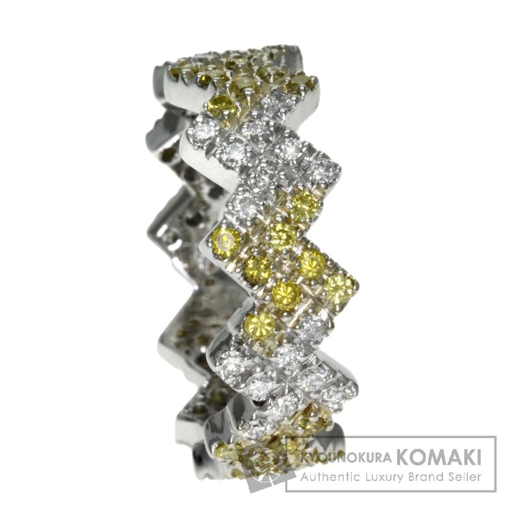 ダイヤモンド リング・指輪 K18ホワイトゴールド 7.6g レディース 【中古】