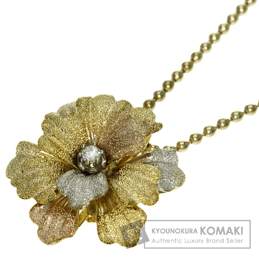 ダイヤモンド ネックレス K18イエローゴールド 10.5g レディース 【中古】