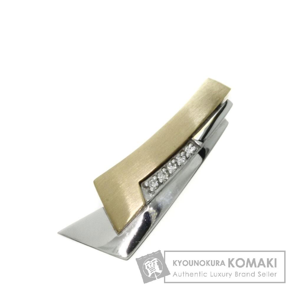 0.03ct ダイヤモンド ペンダント K18イエローゴールド/K18WG 3.9g レディース 【中古】