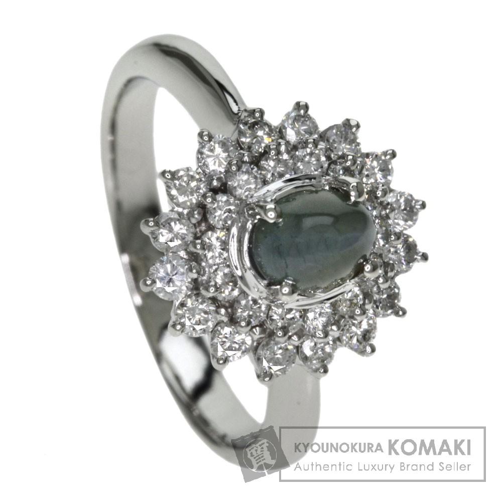 0.894ct キャッツアイ/ダイヤモンド リング・指輪 プラチナPT900 7.3g レディース 【中古】