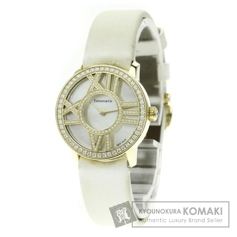 TIFFANY&Co. Z1900.10.50E91 アトラス ダイヤモンド 腕時計 K18イエローゴールド/サテン レディース 【中古】【ティファニー】