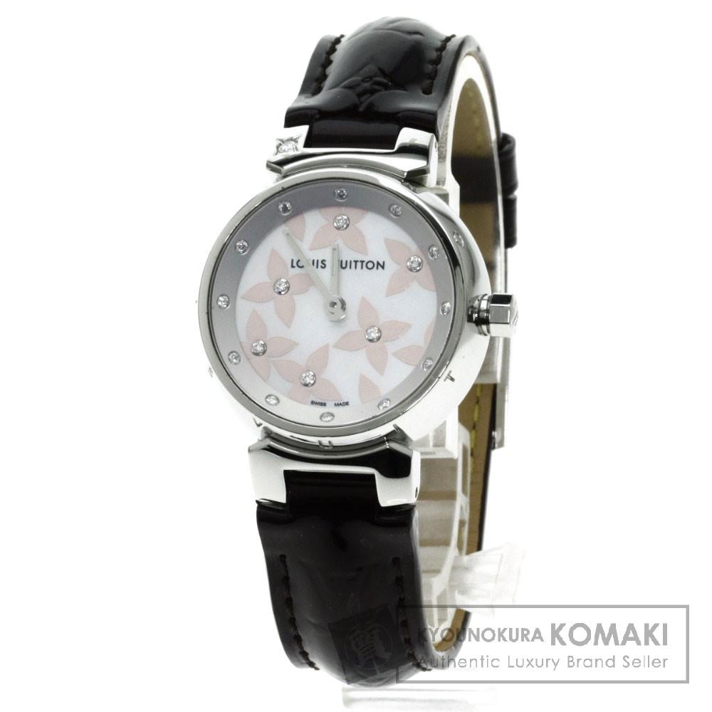 LOUIS VUITTON Q121H タンブール ラブリーダイヤ 腕時計 ステンレス/ヴェルニ レディース 【中古】【ルイ・ヴィトン】