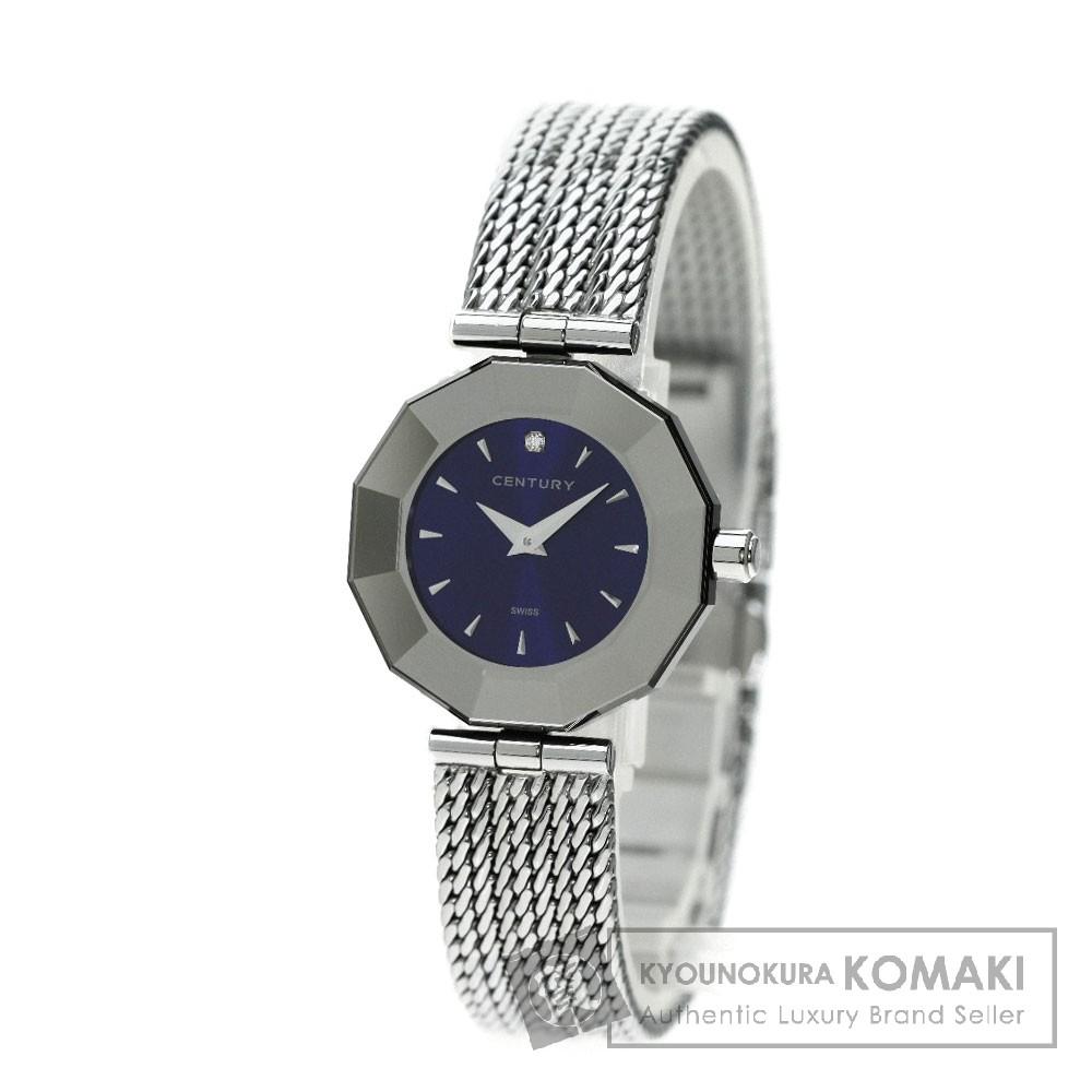 CENTURY プライムタイム ダイヤモンド 腕時計 ステンレス/SS レディース 【中古】【センチュリー】