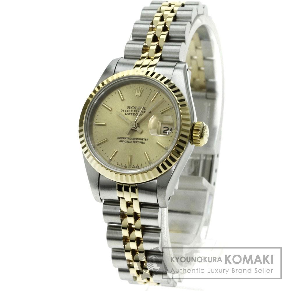 ROLEX 69173 デイトジャスト 腕時計 K18イエローゴールド/SS レディース 【中古】【ロレックス】