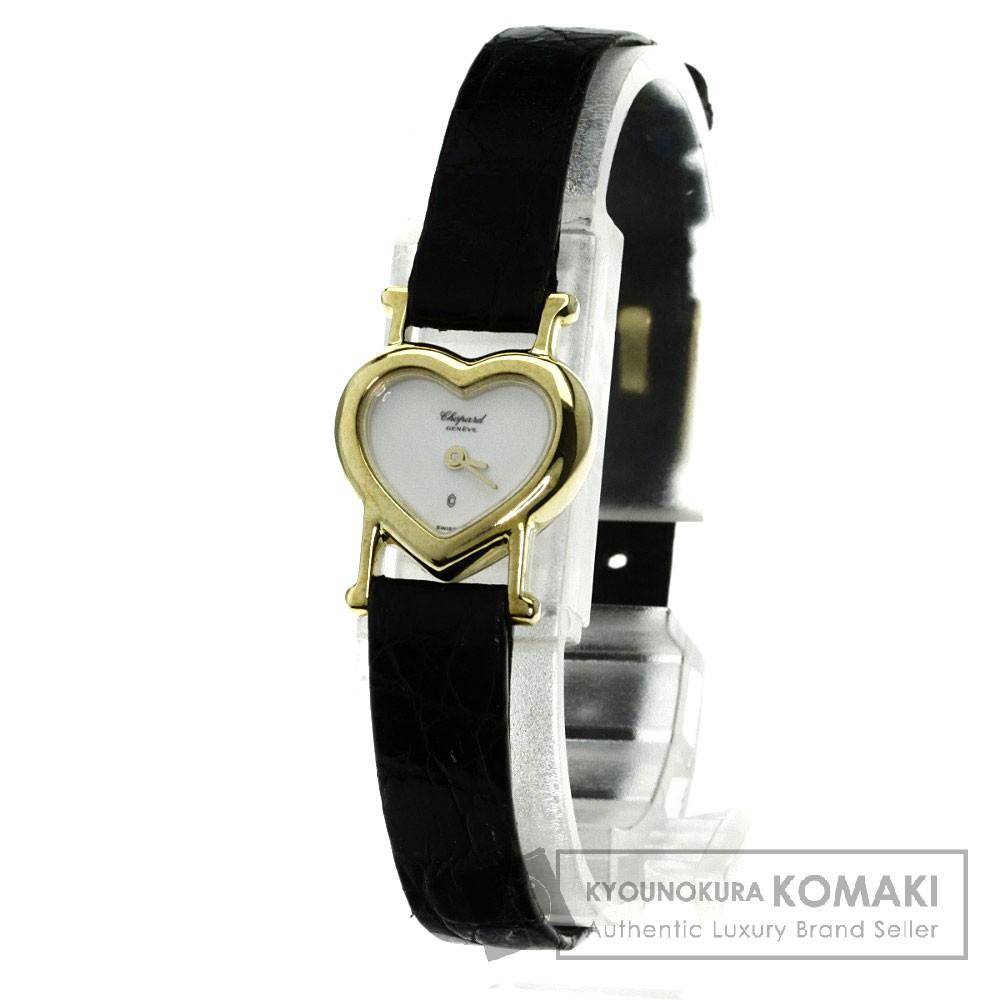 Chopard 12/7333 クラシックハート 腕時計 K18イエローゴールド/アリゲーター レディース 【中古】【ショパール】