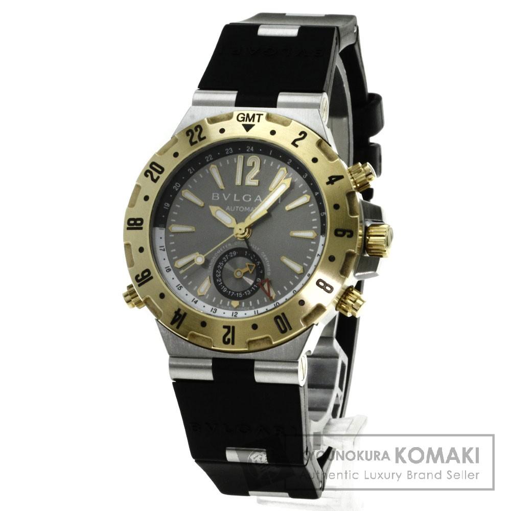 BVLGARI GMT40C5SGVD ディアゴノ 腕時計 OH済 K18イエローゴールド/ラバー メンズ 【中古】【ブルガリ】