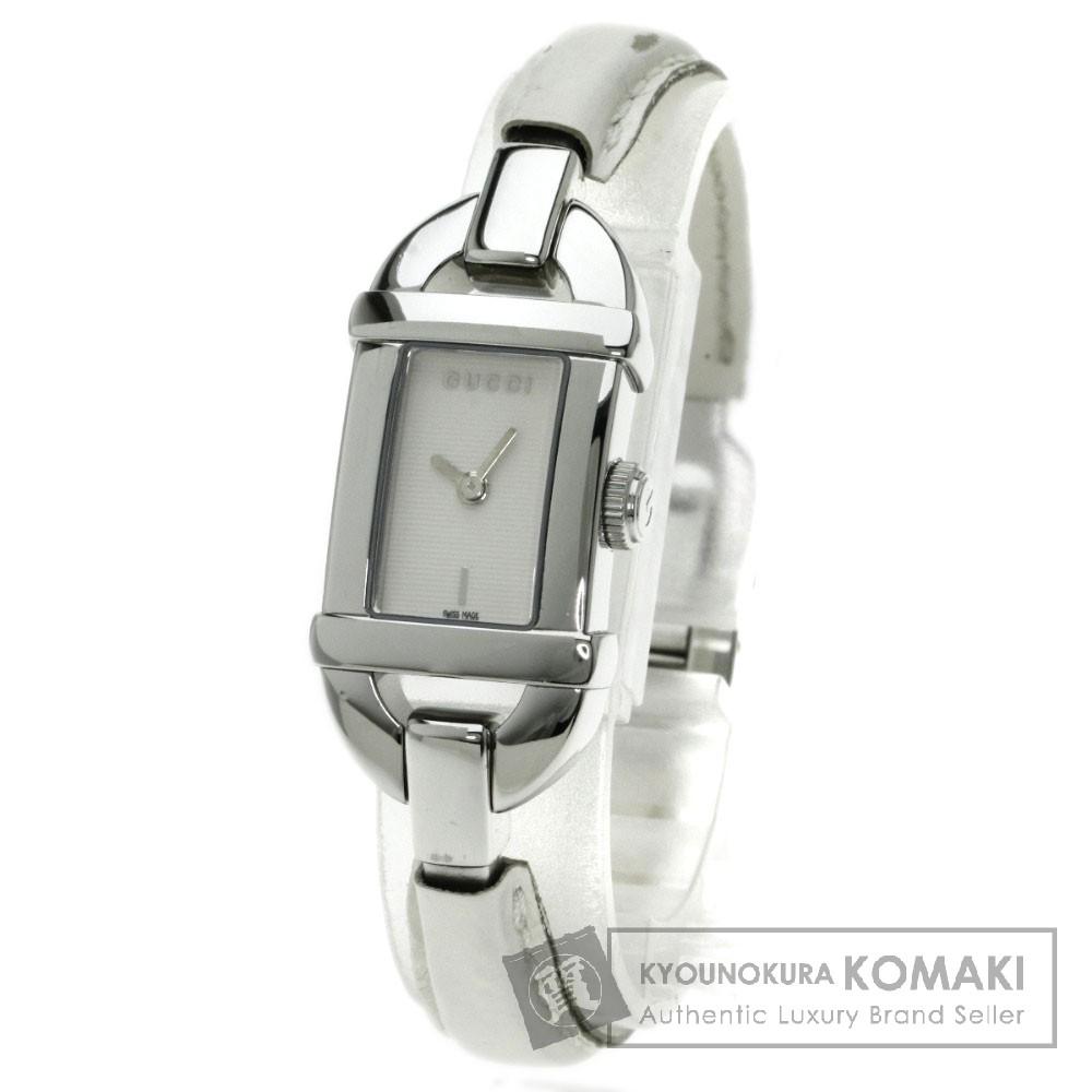 GUCCI 6800L 腕時計 ステンレス/革 レディース 【中古】【グッチ】