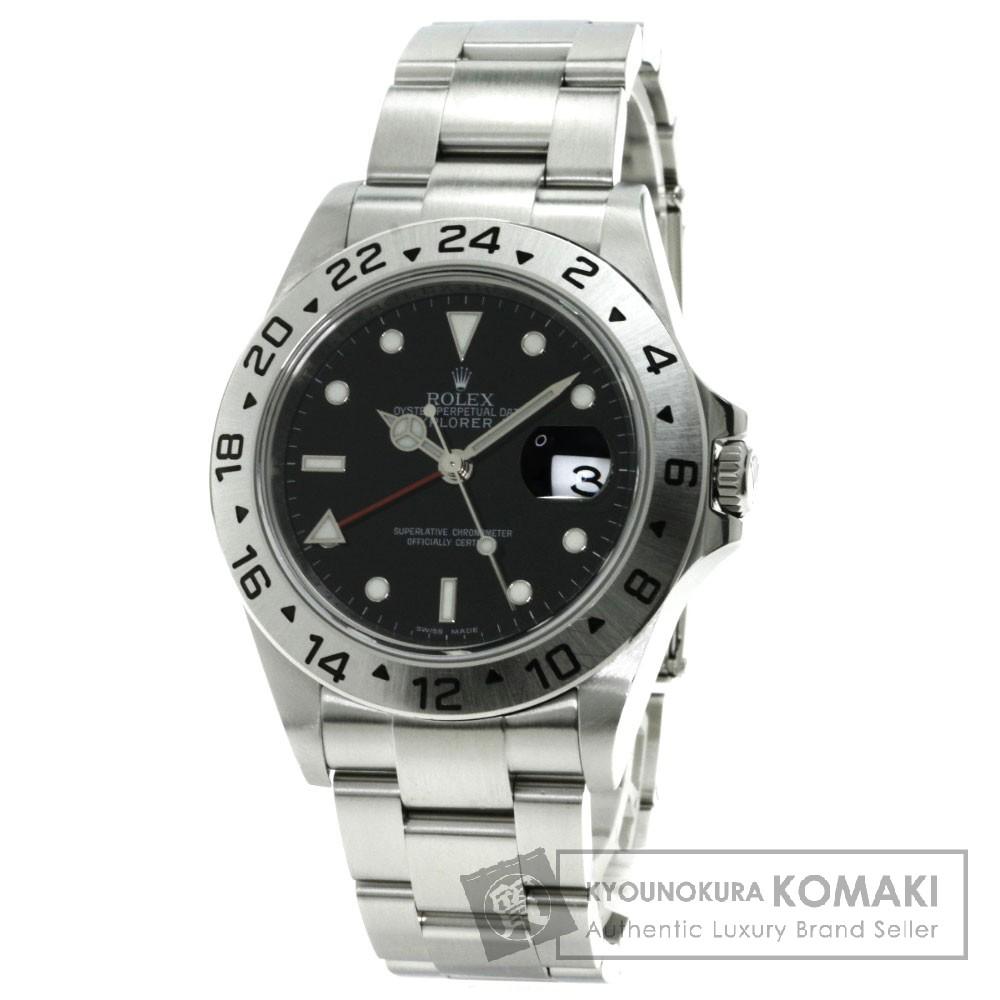 ROLEX 16570 エクスプローラー2 腕時計 ステンレス/SS メンズ 【中古】【ロレックス】