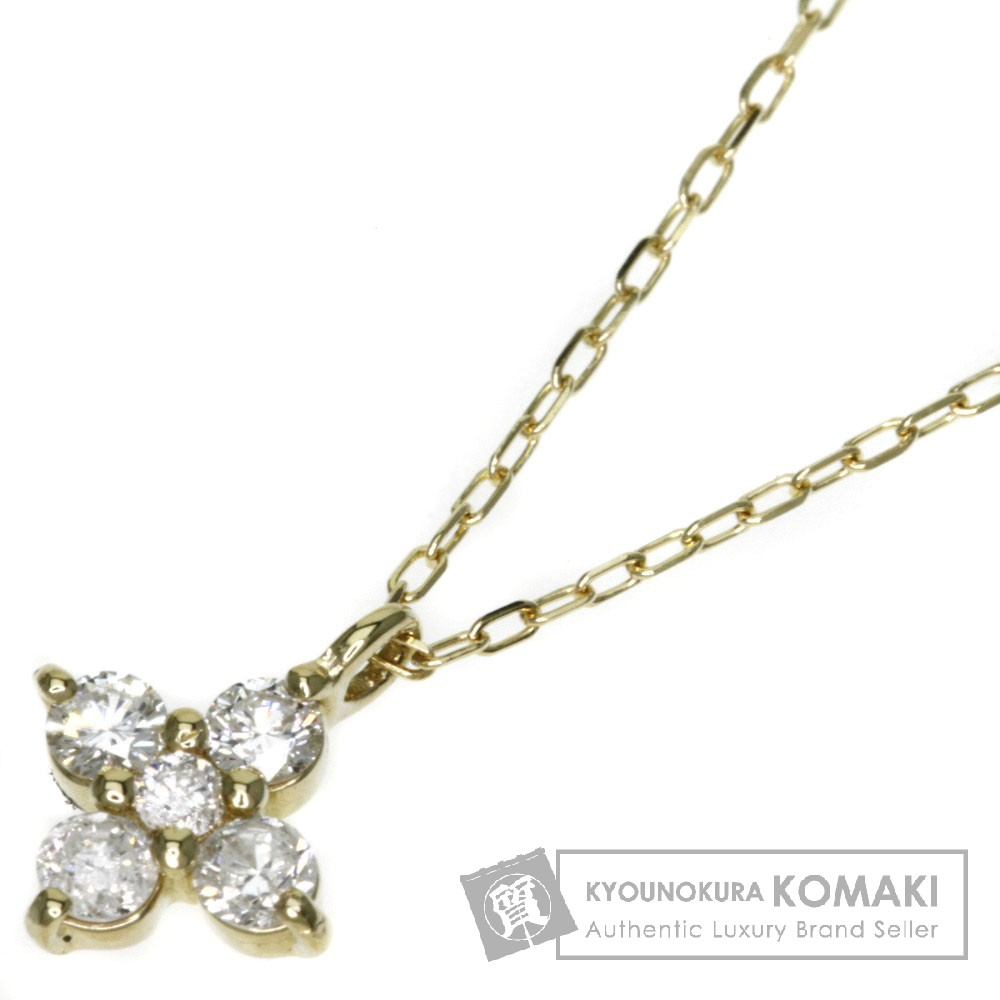 0.19ct ダイヤモンド ネックレス K18イエローゴールド 1.3g レディース 【中古】