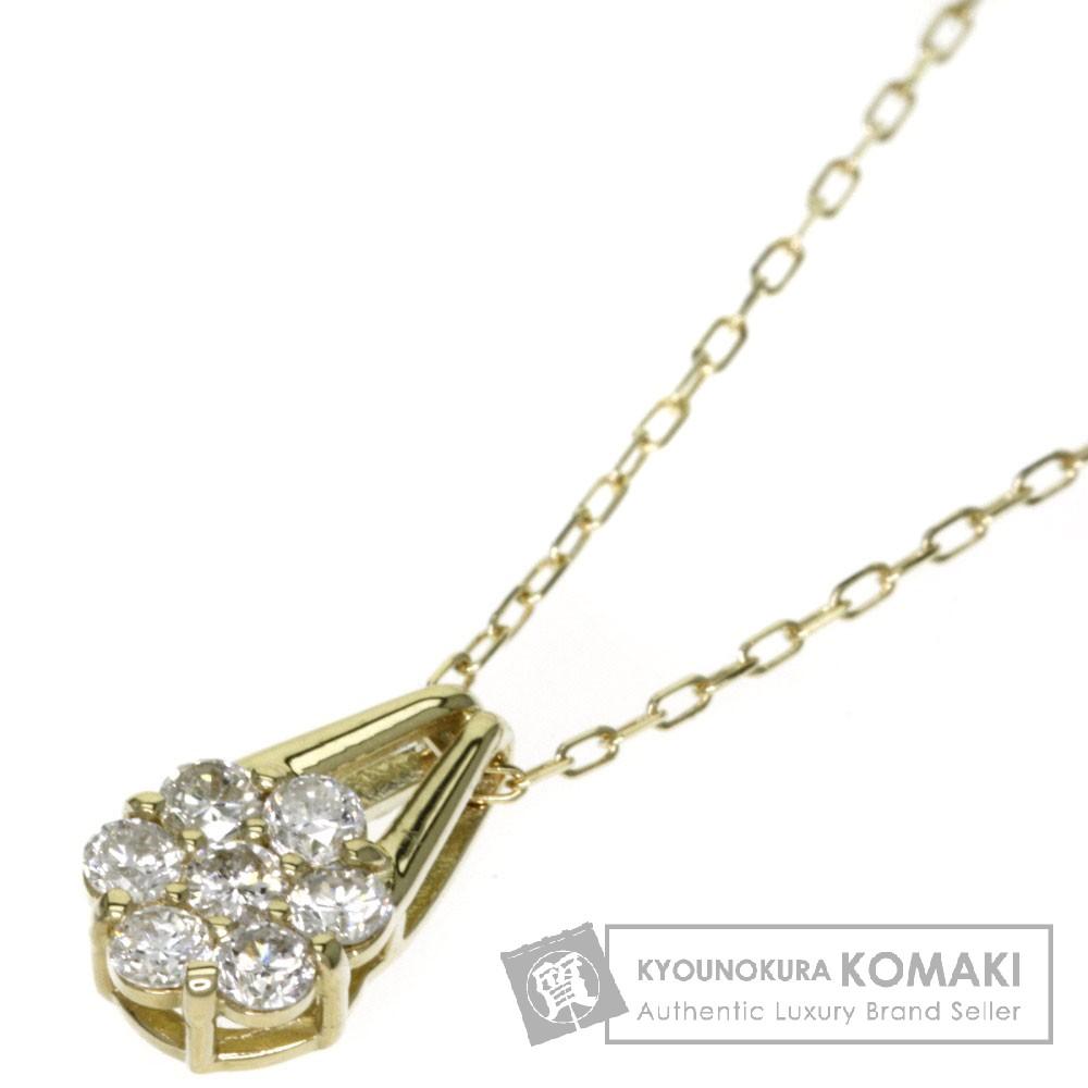 0.20ct ダイヤモンド ネックレス K18イエローゴールド 1.4g レディース 【中古】