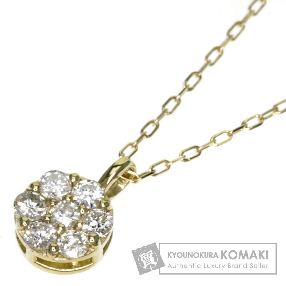 0.21ct ダイヤモンド ネックレス K18イエローゴールド 1.4g レディース 【中古】